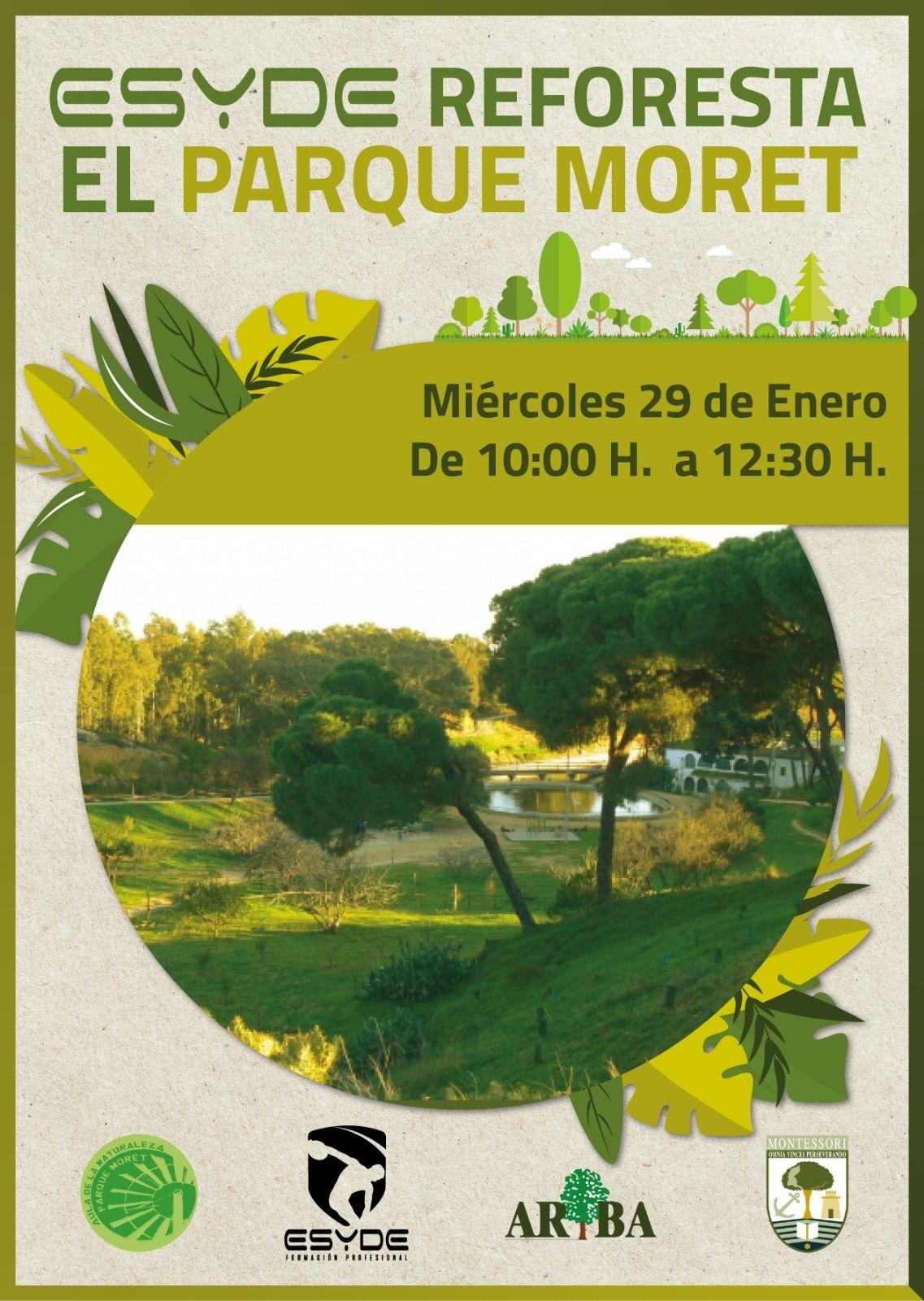 ¡ESYDE reforesta el Parque Moret!