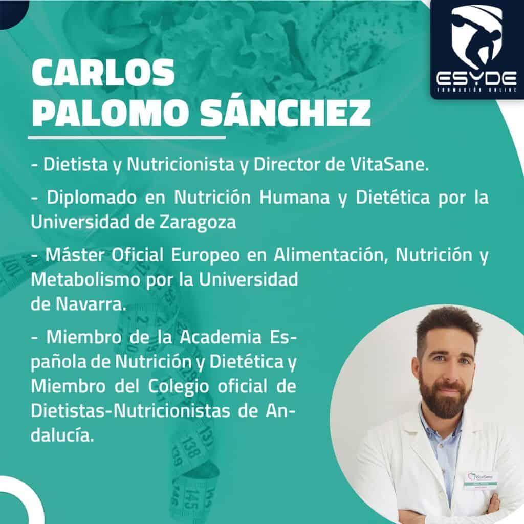 CARLOS PALOMO SANCHEZ De la suplementacion tradicional a la gastronomia deportiva ESYDE