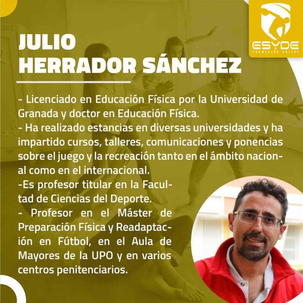 JULIO HERRADOR SANCHEZ Juegos y retos para la mejora de la salud ESYDE