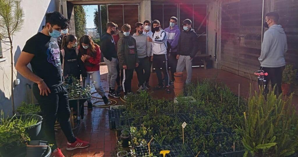 ESYDE Huelva: alumnos participan en la reforestación del Parque Moret