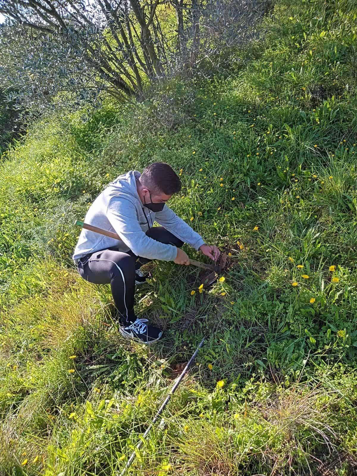 alumno de TECO de ESYDE Huelva participa en actividades de reforestación