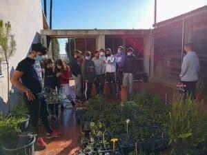 alumnos de TECO de ESYDE Huelva en el parque Moret