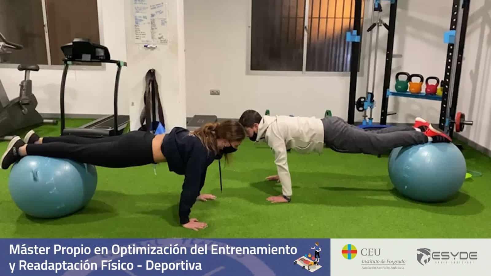 sesiones del Máster en Entrenamiento y la Readaptación Físico-Deportiva