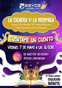 Afiche promocional de Cuéntame un Cuento - ESYDE Huelva